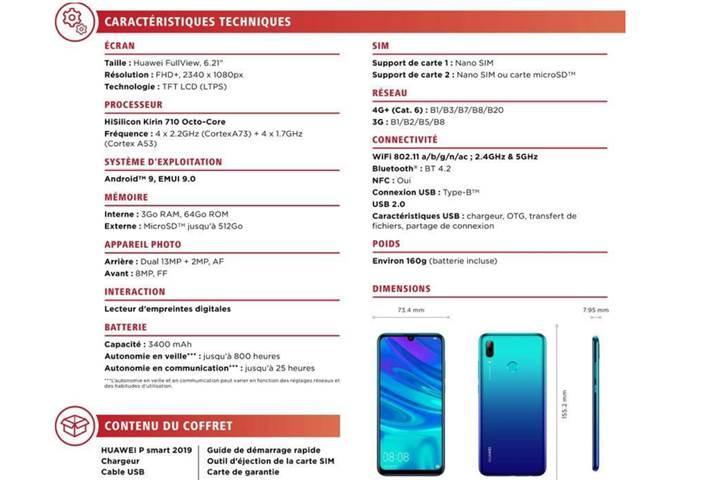 Huawei P Smart 2019 ön siparişe başladı