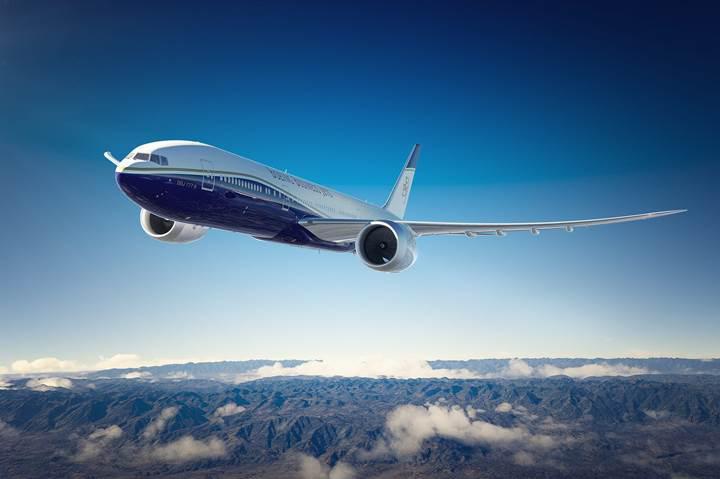 Boeing, en uzun menzile sahip BBJ 777x model özel jetleri piyasaya sürüyor