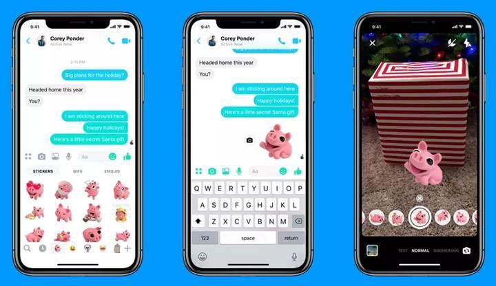 Facebook Messenger uygulamasına portre modu dahil yeni kamera özellikleri eklendi