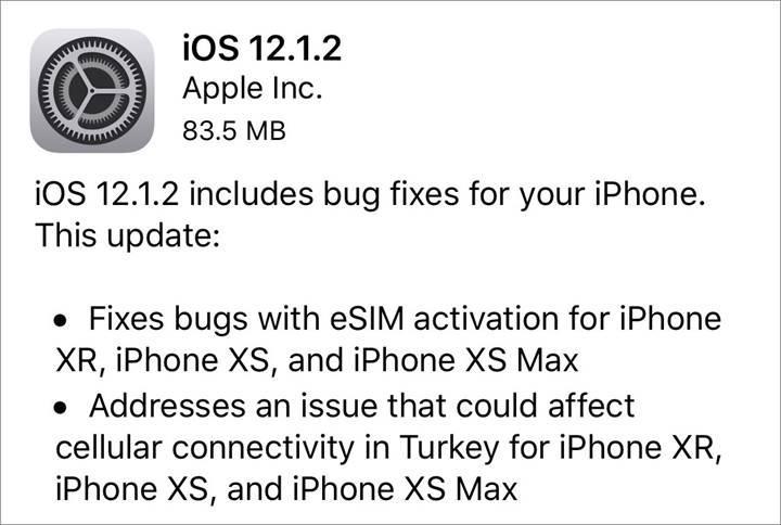 iOS 12.1.2 güncellemesi ile ülkemizdeki bazı yeni iPhone modellerinin bağlantı sorunu giderildi