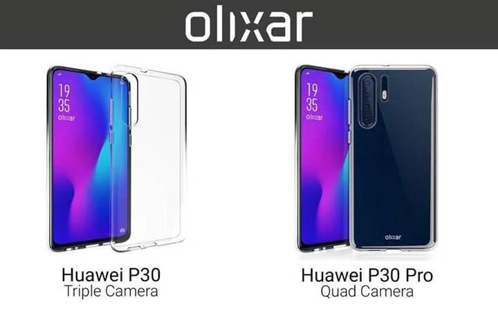 Dört arka kameralı Huawei P30 Pro'nun tasarımı açığa çıktı