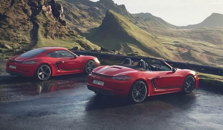 Porsche'den safkan sürüş deneyimi arayanlara iki yeni model: 718 Cayman T ve 718 Boxster T