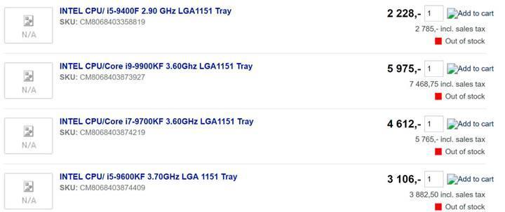Dokuzuncu nesil Intel F serisi işlemciler detaylanıyor