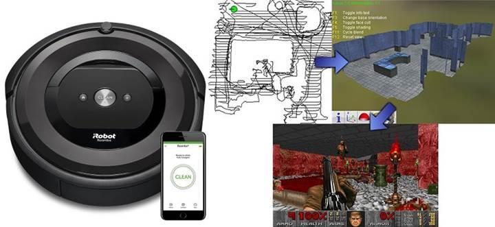 Roomba süpürgesi ile odanızı Doom oyununa aktarın