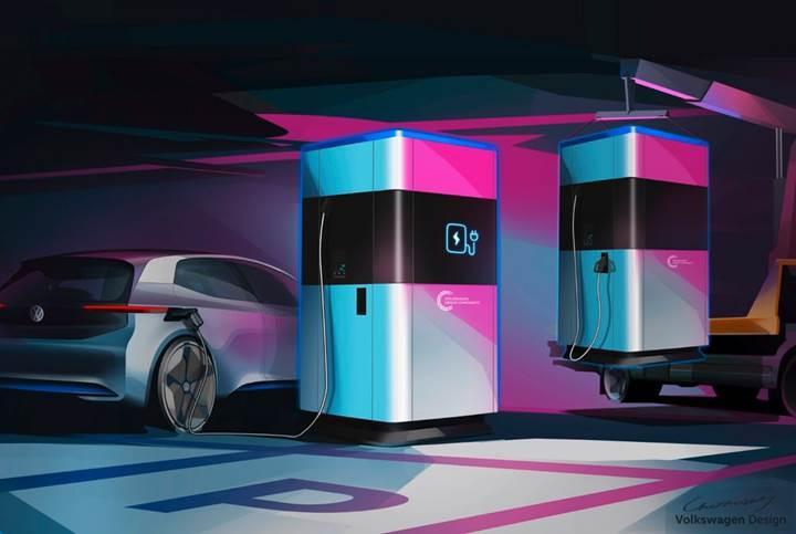 Volkswagen, elektrikli araçlar için taşınabilir şarj istasyonu üretecek