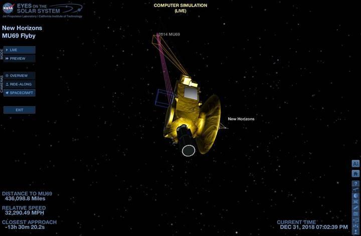 New Horizons'un tarihi yakın geçişini bu uygulamayla canlı takip edin