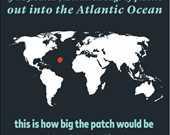 7,2 trilyon plastik poşeti Atlantik Okyanusunda yüzdürmüş olsaydık (halihazırda yüzenler hariç) , Okyanus üzerinde Texas eyaleti büyüklüğünde bir nokta oluşurdu.