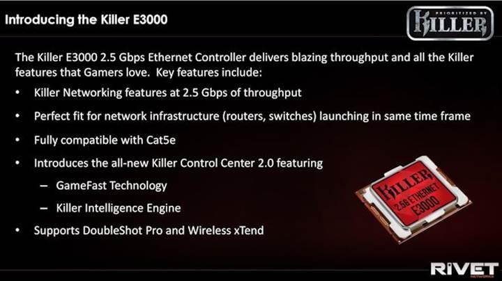 Killer E3000 ethernet kontrolcüsü duyuruldu