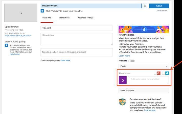 YouTube'a yüklenen videolar artık Twitter ve Google Plus'da otomatik paylaşılamayacak