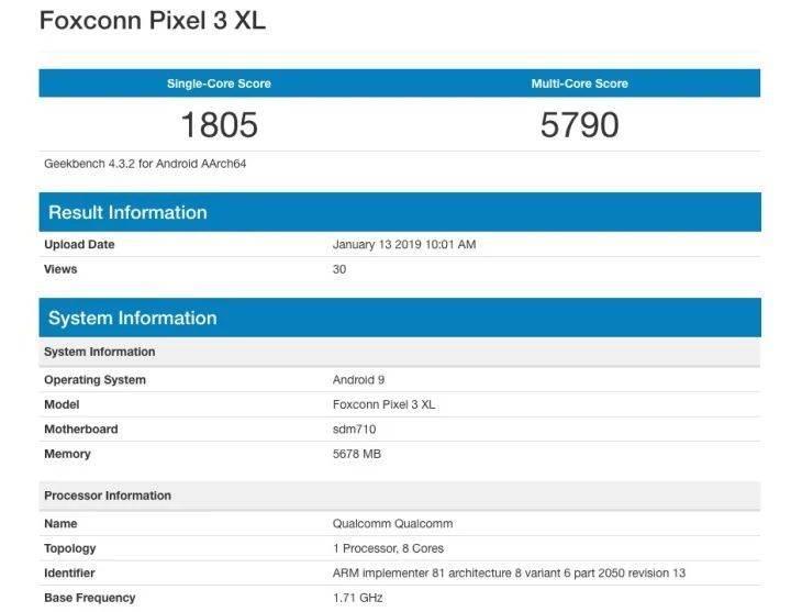 Google Pixel 3 Lite XL, Snapdragon 710 ve 6 GB RAM'le gelebilir