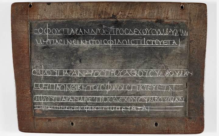 1,800 yıl önce de çocuklar ev ödevi yapmak zorundaydı