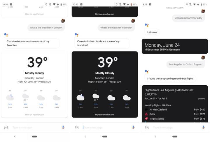 Google Asistan'a karanlık mod özelliği geliyor