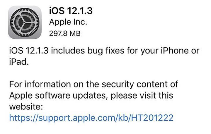 iOS 12.1.3 güncellemesi önemli hataları gideriyor