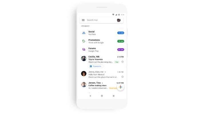 Gmail'in Android ve iOS versiyonları yeni materyal tasarıma geçiyor