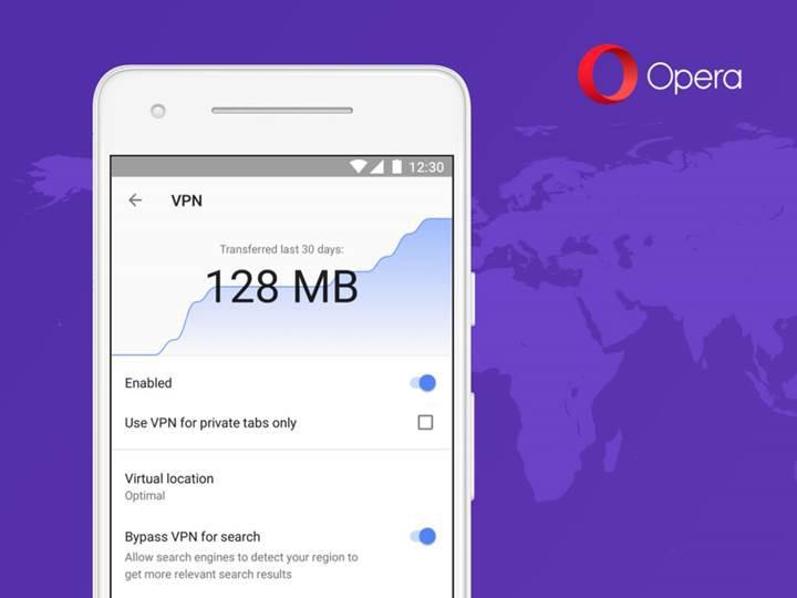 Opera'nın Android versiyonuna VPN desteği geliyor