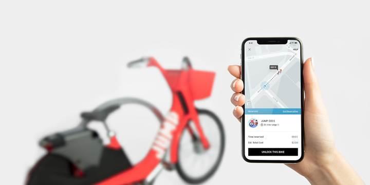 Uber'in bisiklet hizmeti, araç hizmetinin kullanımını etkiliyor