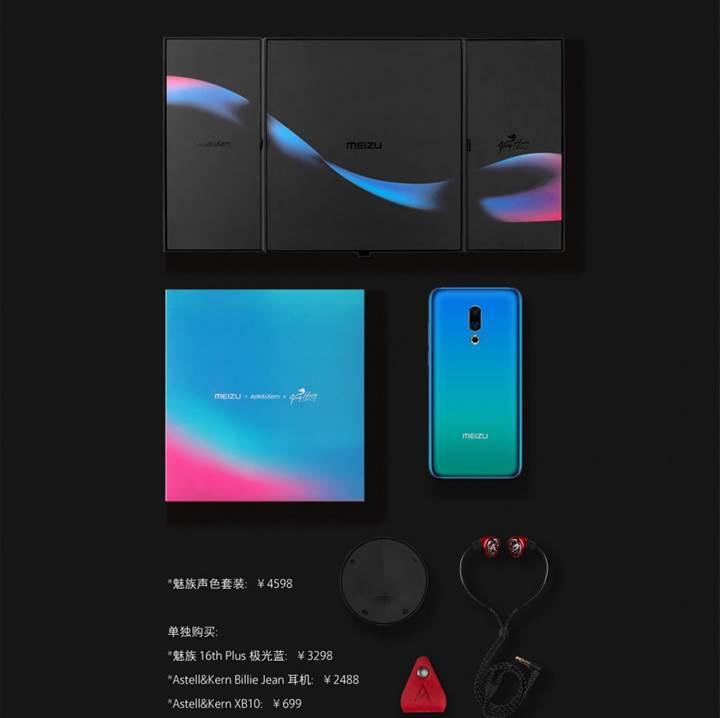 Meizu 16 Plus Sound Color Edition duyuruldu, Astell&Kern kulaklık ve DAC ile geliyor