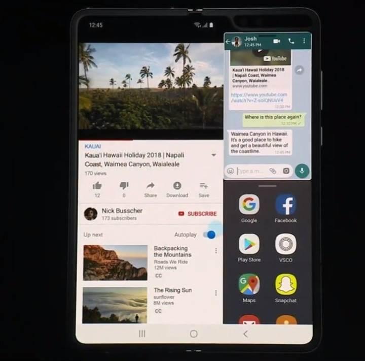 Katlanabilir ekranlı Samsung Galaxy Fold resmen tanıtıldı