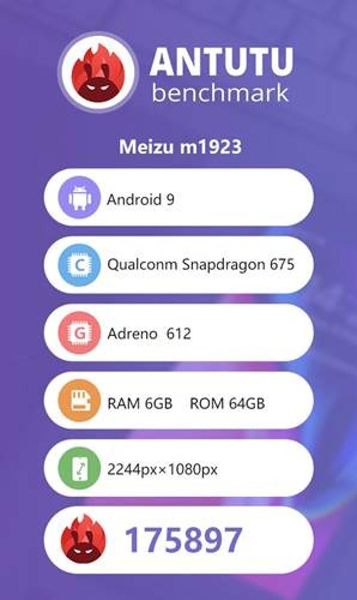 Meizu Note 9'un AnTuTu puanı ve teknik özellikleri ortaya çıktı