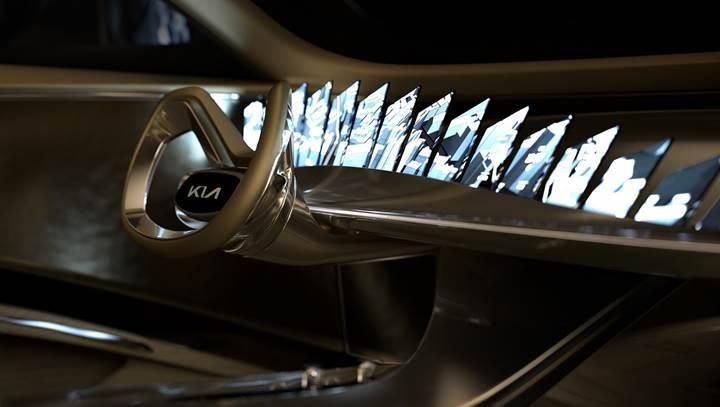 Kia'nın elektrikli konsept otomobilinde 21 dijital ekran bulunuyor