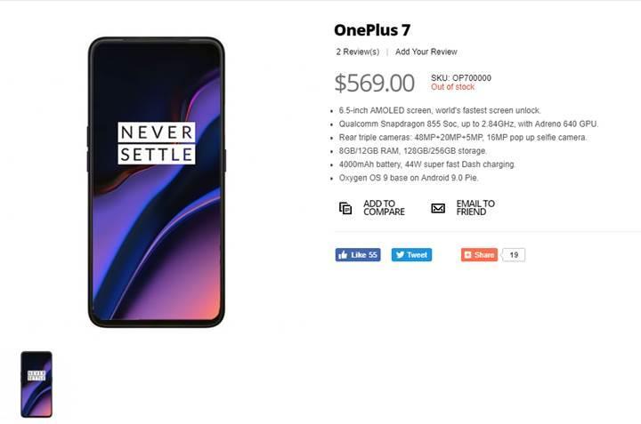 OnePlus 7 tanıtılmadan satışa sunuldu, özellikleri ve resmi ortaya çıktı
