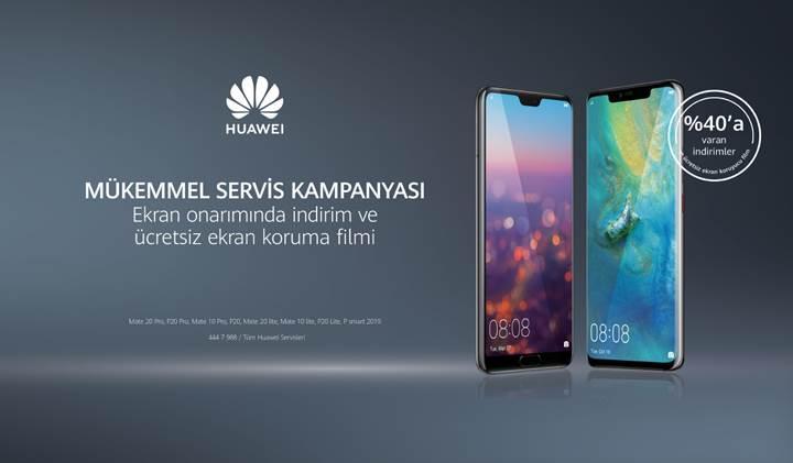 Huawei'den yüzde 40 indirimli ekran onarım kampanyası