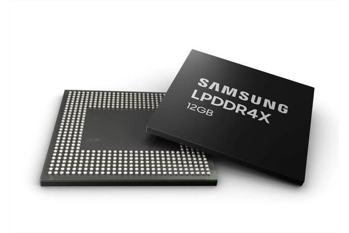 Samsung, akıllı telefonlar için 12 GB LPDDR4X DRAM üretimine başlıyor