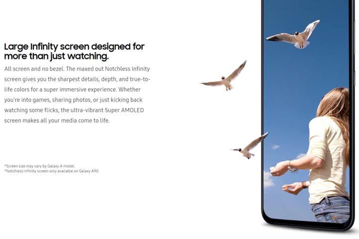 Galaxy A90 modelinin çentiksiz ekranı doğrulandı