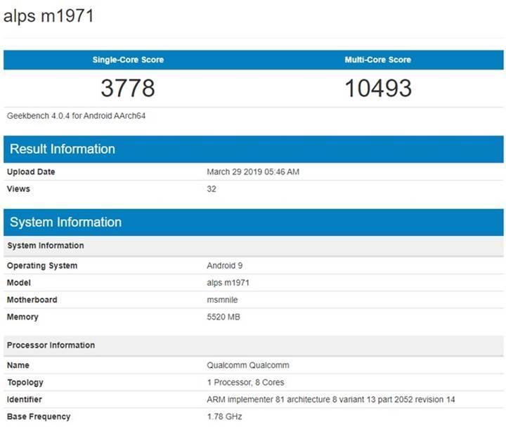 Meizu 16s'in yeni görseli ve Geekbench skoru ortaya çıktı