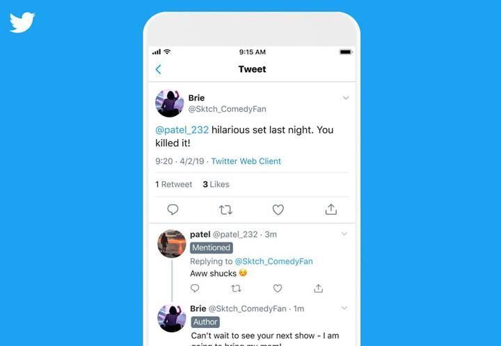 Twitter sohbetlerinde etiket dönemi