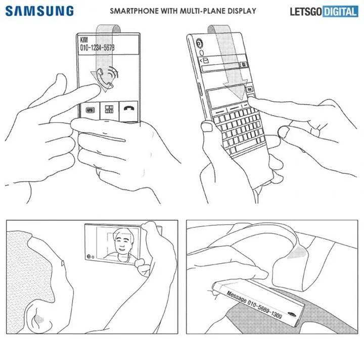 Samsung'dan arkaya devam eden ekranlı telefon patenti