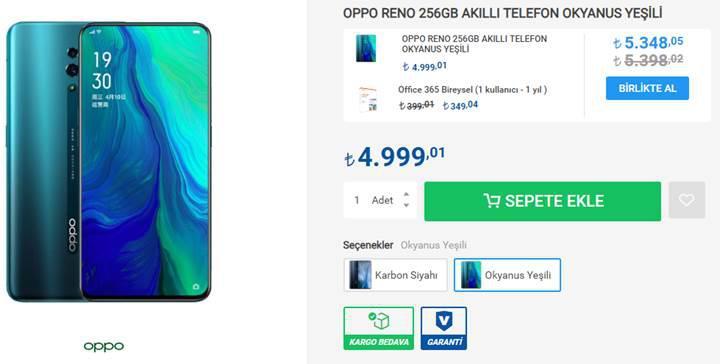 Oppo Reno satışa sunuldu! Oppo Reno Türkiye fiyatı ve özellikleri