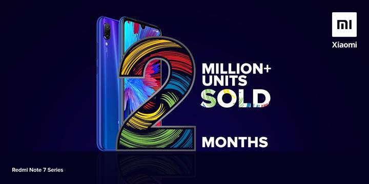 Redmi Note 7 satış adedi Hindistan'da 2 milyonu geçti