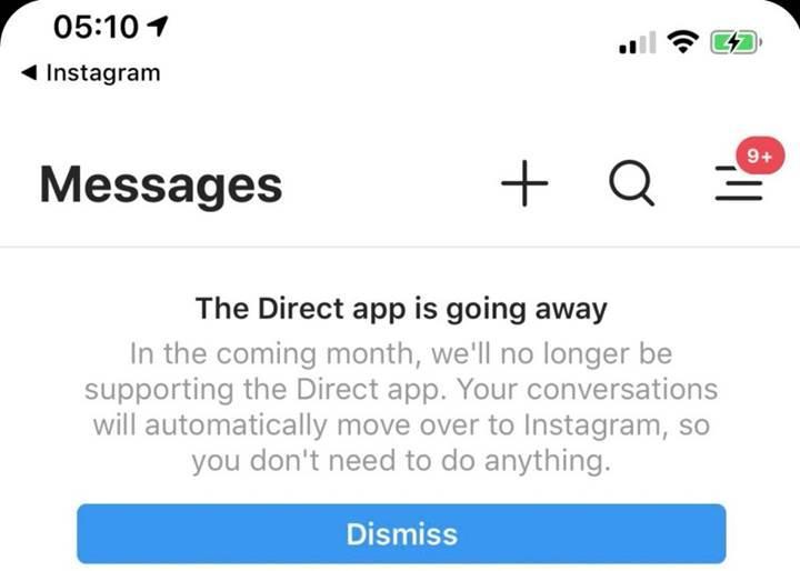 Instagram Direct uygulaması kapanıyor