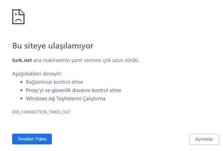 TurkNet'te internet kesintisi