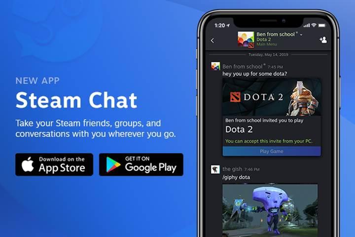 Steam Chat uygulaması iOS ve Android için kullanıma sunuldu