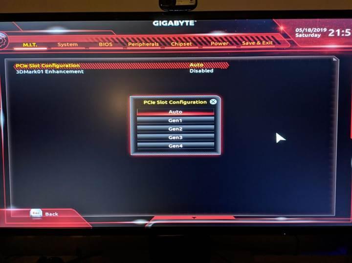 Gigabyte yayınladığı BIOS'la mevcut anakartına PCIe 4.0 desteği ekledi