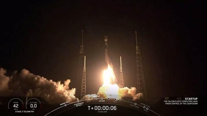 Starlink uyduları yörüngeye yerleştirildi: İşte görüntüler