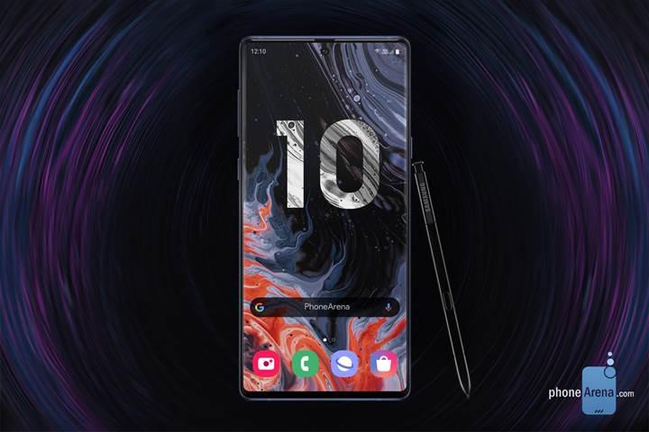 Samsung Galaxy Note 10 delikli ekran ve dikey kamera sistemi ile gelecek