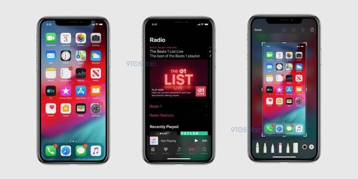 iOS 13'ten ilk görüntüler geldi