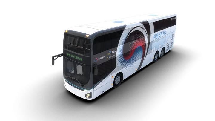 Hyundai'de bir ilk: Koreli üretici çift katlı elektrikli otobüsünü tanıttı