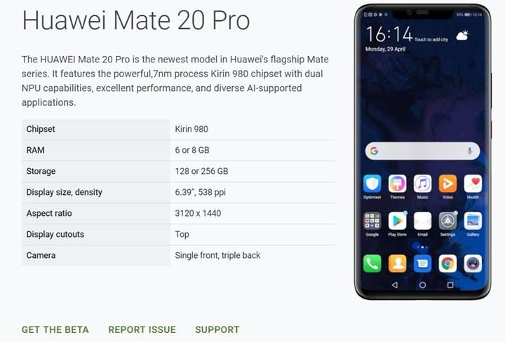 Google'dan geri adım: Huawei Mate 20 Pro, yeniden Android Q beta programında