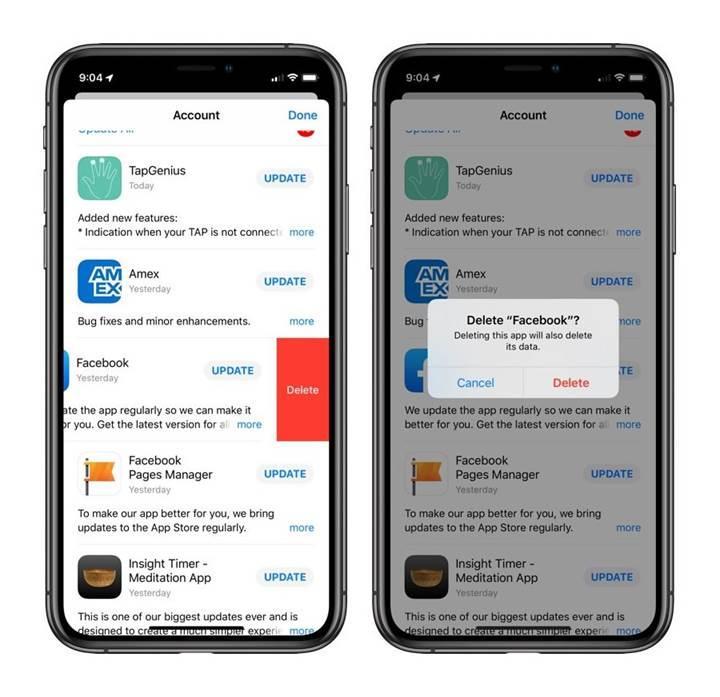 iOS 13 uygulama silmeyi kolaylaştıracak