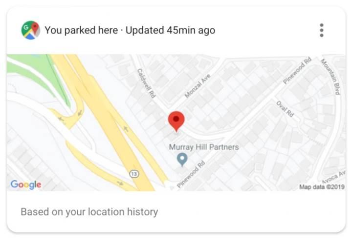 Google Asistan, arabanızı park ettiğiniz yeri otomatik olarak hatırlıyor