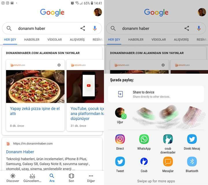 Google uygulamasına arama paylaşma özelliği geliyor