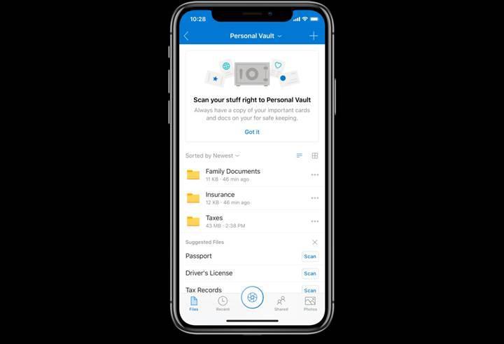 OneDrive artık kişisel kasa özelliği sunuyor