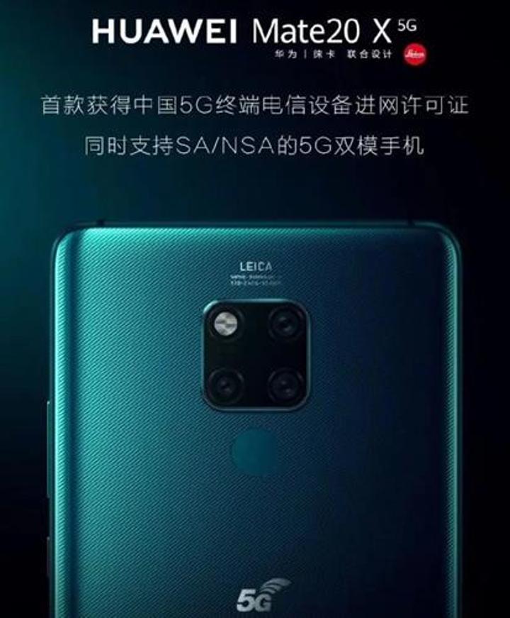 Huawei Mate 20 X 5G ilk çift SIM taşıyan telefon olacak