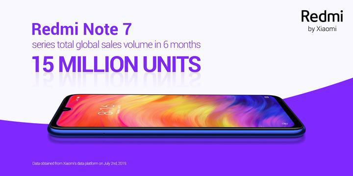 Redmi Note 7 altı ay içinde 15 milyon adet sattı