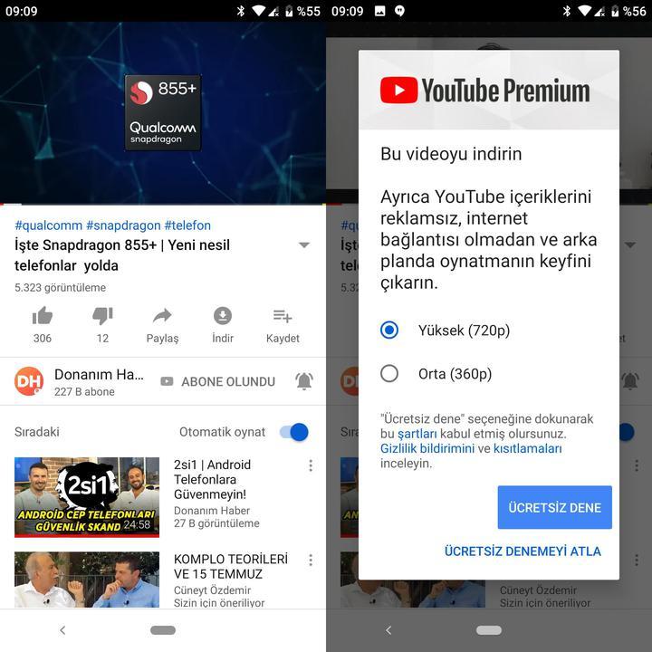 YouTube Premium Türkiye'ye açıldı!