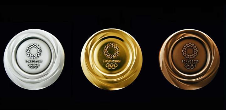 Geri dönüşümlü elektronik aletlerden üretilen Tokyo 2020 Olimpiyat madalyaları tanıtıldı